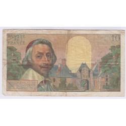 10 NOUVEAUX FRANCS RICHELIEU 4-10-1962 TB L'ART DES GENTS AVIGNON