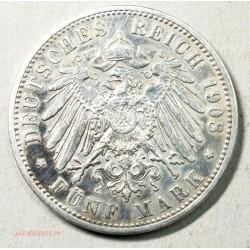 Allemagne - FÜNF MARK -5 MARK 1908 PREUSSEN