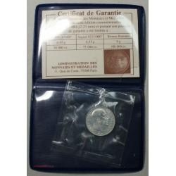 Médaille argent scellée du Gal DE GAULLE avec certificat de garantie