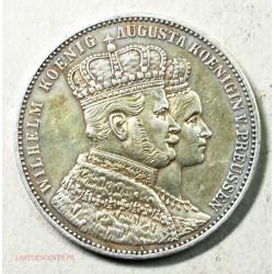 Allemagne - Preussen 1 taler 1863, Wilhelm I  Augusta.