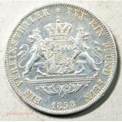 Allemagne - 1 Vereinsthaler 1858 Maximilien II  Bavière, lartdesgents.fr