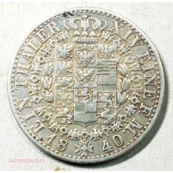 Allemagne - THALER 1840 PREUSSEN, lartdesgents.fr