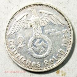 Allemagne - 2 mark 1938 G, lartdesgents.fr