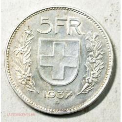 SUISSE - 5 FRANCS 1937