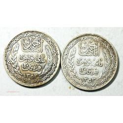 Tunisie - 2 x 20 Francs argent 1353/1935, lartdesgents.fr