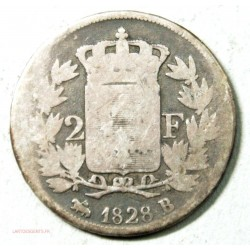 CHARLES X, 2 Francs 1828 B Rouen, lartdesgents.fr