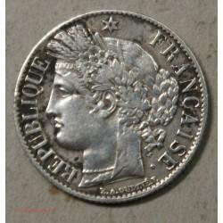 Moderne Cérès, 1 Francs 1872 K Bordeaux,  cote 120€ en SUP