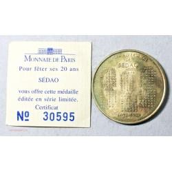 Médaille Touristique 20° anniversaire de SEDAO 1998