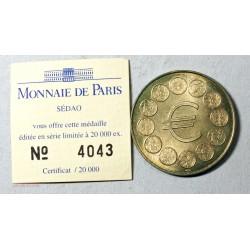 Médaille Touristique 1 EURO vaut 6.55957 Franc de SEDAO 1998