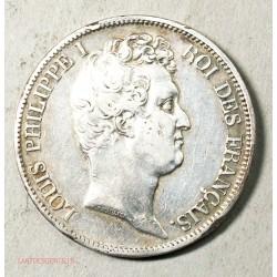 ECU Louis Philippe Ier de  5 Francs 1831 T Nantes tranche en creux TTB