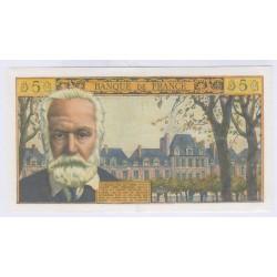 BILLET FRANCE 5 NF Victor Hugo 07-10-1965 SUP L'ART DES GENTS AVIGNON