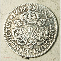 Louis XIV, demi écu aux 3 couronnes  1709 D Lyon, lartdesgents.fr