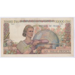 BILLET FRANCE 10000 FRANCS GENIE 21-11-1946 TB+ COTE 400 Euros L'ART DES GENTS