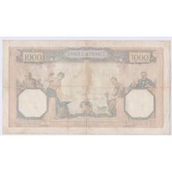BILLET FRANCE CERES ET MERCURE 1000 FRANCS 21-09-1939 L'ART DES GENTS AVIGNON