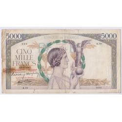 5000 FRANCS VICTOIRE 7 Septembre 1939 SUP