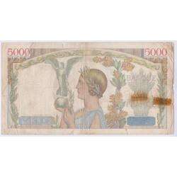 BILLET FRANCE 5000 FRANCS VICTOIRE 08-12-1938 TB Cote 120 Euros  L'art des gents Avignon
