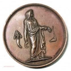 Medaille agriculture attribuée sur tranche par E.OUDINE