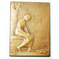 Medaille plaque Louis PRUNIERES Jean CANORA,  Poète Lyrique par E.BRECHOT