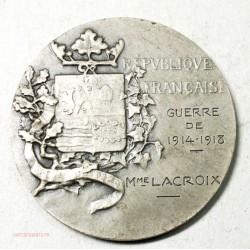 Medaille argent ville de St Mandé. Guerre 1914-1918 par L'OUTHWAITE