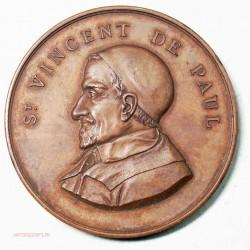 Medaille ST VINCENT DE PAUL, patronages des jeunes ouvriers 1897