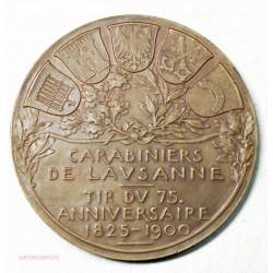 Medaille Bronze de tir Carabiniers de Lausanne 1900