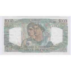 BILLET FRANCE 1000 FRANCS MINERVE 01-09-1949 SUP L'ART DESGENTS AVIGNON