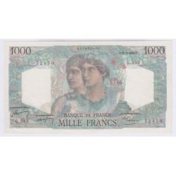 BILLET FRANCE 1000 FRANCS MINERVE 01-09-1949 SUP L'ART DES GENTS AVIGNON