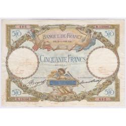 BILLET FRANCE 50 FRANCS LOM 22-02-1934 L'ART DES GENTS AVIGNON