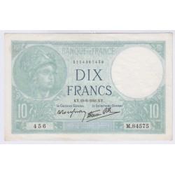 BILLET FRANCE 10 FRANCS MINERVE 19-06-1941 SUP+ L'ART DES GENTS AVIGNON