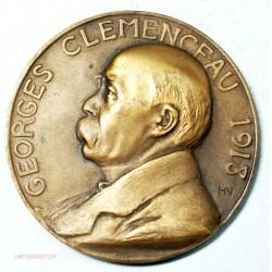 Médaille Georges Clémenceau 1918, mérite de la Patrie par HN