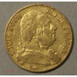 LOUIS XVIII buste Habillé, 20 Francs 1814 A Paris