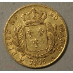 LOUIS XVIII buste Habillé, 20 Francs 1815 A Paris, lartdesgents.fr
