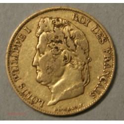 Louis Philippe Ier, 20 Francs 1834 A Paris, lartdesgents.fr