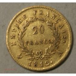 Napoléon Ier laurée, 20 Francs 1812A Paris, lartdesgents.fr