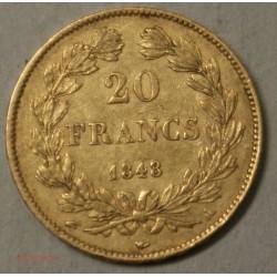 Louis Philippe Ier, 20 Francs 1848 A Paris, lartdesgents.fr