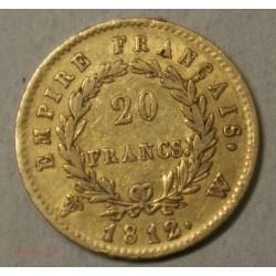 Napoléon Ier laurée, 20 Francs 1812W Lille, lartdesgents.fr