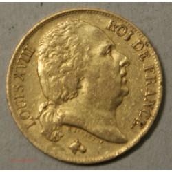 LOUIS XVIII buste nu, 20 Francs 1817 A Paris, lartdesgents.fr