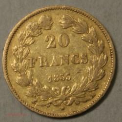 Louis Philippe Ier, 20 Francs 1833 A Paris, lartdesgents.fr