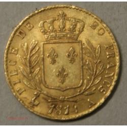 LOUIS XVIII buste Habillé, 20 Francs 1814 A Paris, lartdesgents.fr