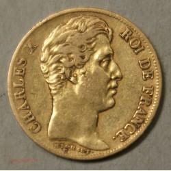 CHARLES X, 20 Francs 1830A Paris tranche creux, lartdesgents.fr