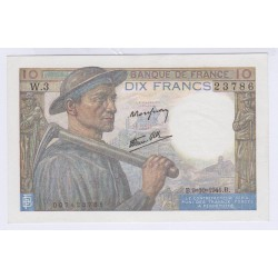 BILLET FRANCE 10 FRANCS MINEUR 11-09-1941 NEUF L'ART DES GENTS
