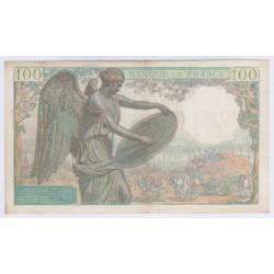 BILLET FRANCE 100 FRANCS DESCARTES 1942 L'ART DES GENTS