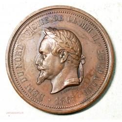 Médaille visite de Napoléon III à Lille en 1867 par J.C. Chaplain (5)