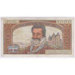 BILLET FRANCE 5000 FRANCS HENRI IV 06-06-1957 L'ART DES GENTS AVIGNON