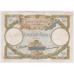 BILLET FRANCE 50 FRANCS LOM 20-10-1932 TB L'ART DES GENTS AVIGNON