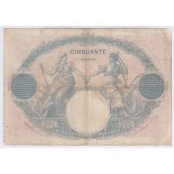 BILLET FRANCE 50 FRANCS BLEU ET ROSE 16-01-1923 TB L'ART DES GENTS AVIGNON