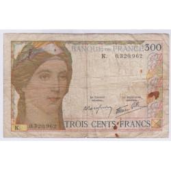 BILLET FRANCE 300 FRANCS B+ L'ART DES GENTS NUMISMATIQUE AVIGNON