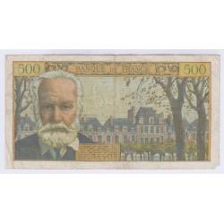 BILLET FRANCE 500 FRANCS VICTOR HUGO 06-01-1955 TB+ L'ART DES GENTS