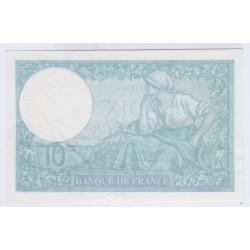 BILLET FRANCE 10 FRANCS MINERVE 12-10-1939 SUP+ L'ART DES GENTS AVIGNON