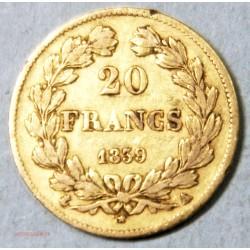 Louis Philippe Ier, 20 Francs 1839 A Paris, lartdesgents.fr